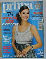 Prima Magazine January 2008. 78 ways to look glamorous. Quick & easy party food.