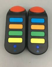 Two Official Sony Buzz! Quiz TV Wireless Controllers for Playstation PS3 - A25