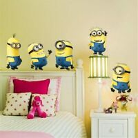 Cartoon minions  Cute Yellow Boy On Holiday wall stickers for Kids Room