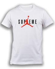 T-shirt stampa Supreme Michael Jordan maglietta Payper bianca unisex cotone