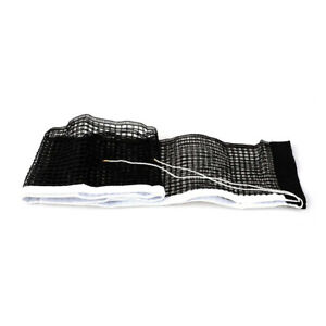 Table Tennis Net 1.8m Polyester Net for Indoor Outdoor 4-rope Black