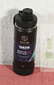 Takeya 18oz Actives Insulated Stainless Steel Water Bottle with Spout Lid, Black