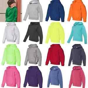 JERZEES 996YR NuBlend Youth Hooded Sweatshirt Hoodie Size S-XL