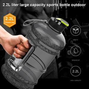 2.2L Large Water Bottle Cap Big Drink Kettle BPA Free Sport Gym Training Workout