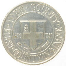 US Mint York County Maine 1636 1936 Silver Commemorative Coin