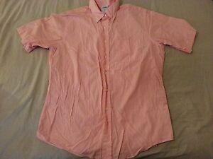 Mens Brooks Brothers Dress Shirt 16 Cotton Short Sleeve