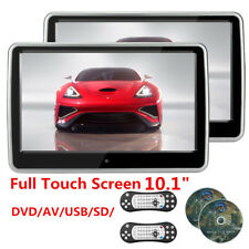 2x 1024*600 TFT LCD HD Resistance Touch Screen Car Headrest Monitor DVD Player