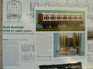 LNWR 42' radial coaches 7mm scale drawings - Railway Modeller magazine article