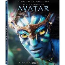 Avatar Blu-ray 3D + 2D + DVD BRAND NEW SEALED Region B FREE POSTAGE