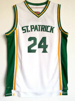 ST.Patrick 24 Kyrie Irving White High School Sewn Basketball Jersey Stitched
