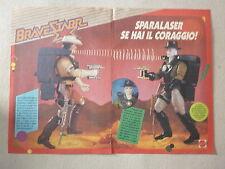 advertising pubblicita'  BRAVESTAR sparalaser se hai il coraggio MATTEL --  1987