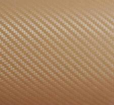 3D Folie Carbonfolie Klebefolie GOLD Carbon f. Auto, laptop, Handy 30 x 100cm