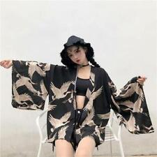 Crane printed kimono top