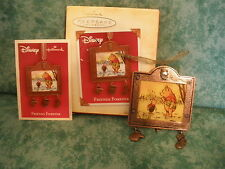 "HALLMARK DISNEY WINNIE POOH~""FRIENDS FOREVER""~METAL DATED 2004 ORNAMENT~NIOB"