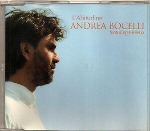 ANDREA BOCELLI - L'ABITUDINE feat. Helena - CD SINGOLO NUOVO NON SIGILLATO