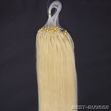 """16"""" 18"""" 20"""" 22"""" Loop Micro Ring Beads Tipped Remy Real Human Hair Extensions100S"""