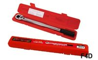 "1/2"" DRIVE TORQUE WRENCH CV STEEL RATCHET GARAGE TOOL 10-150FT/LB CT0738"