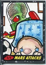 Mars Attacks Heritage Sketch Card By Michael Duron
