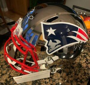 Tom Brady HOF Autographed Full Size Replica Riddell Chrome Helmet - TRISTAR COA