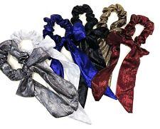 Pack of 6 Bow Hair Scrunchies Metallic Christmas Hair Accessories Girls