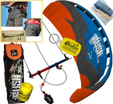 HQ Rush Pro V 350 3.5M Trainer Power Kite Kiteboarding Snowkiting Snow + Harness