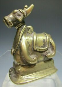 Very Fine Old India Indian Large Brass Figurine of Nandi ca. 19-20th century