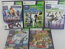Lot of 5 for Xbox 360 with Kinect Game Party In Motion, Dance Paradise, Sports