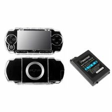 Clear Crystal Hard Case+Battery For SONY PSP 1000 Fat