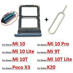 For Xiaomi Mi10 Pro 10T Lite Poco X3 9T Redmi K20 Pro SIM Card Tray Slot Holder