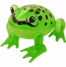 ** INFLATABLE FROG 39CM BEACH POOL SEASIDE PARTY FANCY DRESS PROP NEW **