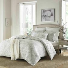 Stone Cottage Camden Comforter 3 Piece Set, Gray Damask Pattern, KING NEW