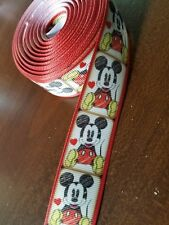 "Disney Mickey Mouse 1"" 25mm grosgrain ribbon US Seller BTY"