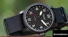 NEW Lum-Tec Combat B series B41 Quartz 24 Hrs Hours Black PVD watch w/ WARRANTY