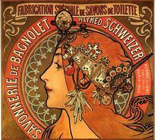 Alphonse Mucha Art Nouveau Déco Savonnerie de Bagnolet Image Giclée Imprimé