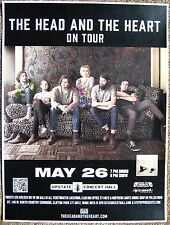 THE HEAD AND THE HEART 2014 Gig POSTER Concert Clifton Park New York