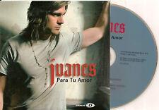 JUANES - para tu amor CD SINGLE + VIDEO 2006 CARDSLEEVE