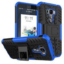 Für ASUS Zenfone 3 ZS570KL 5.7 Hybrid Case 2teilig Outdoor Blau Tasche Hülle Neu