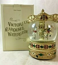 Victorian Styled Carousel Water globe by Past Times Musical