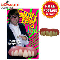 AS234 Billy Bob Austin Powers Deluxe Teeth Groovy Baby Fancy Dress Costume 60s