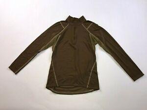 Men's Beyond Clothing 1/2 Zip Athletic Jacket Size L Large Thermal Brown #136