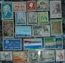 *<* 2020 Special! 20 Bargain-Priced Mint Never Hinged Iceland Stamps: Free Ship!