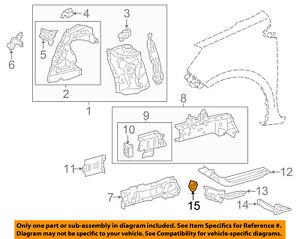 TOYOTA OEM Fender-Rear Rail Hook 5196352050