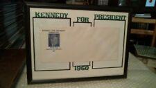 KENNEDY FOR PRESIDENT NEW HAMPSHIRE ORIGINAL CUSTOM FRAMED LARGE ENVELOPE - 1960