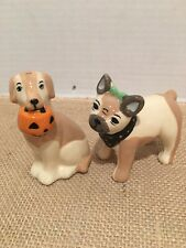 Halloween DOG Salt & Pepper Shakers New with no box absolutely adorable