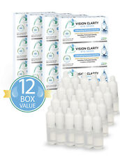 Vision Clarity Eye Drops with 1% Carnosine (NAC Drops), Lubricants, 12 Box Sale