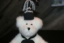 """Boyds Bear """"Ono Nada Nutterone"""" Or Happy Birthday / Over What Hill? 10"""" Tall"""