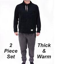 Mens Fleece Pyjama Set Warm Winter Ex Store Pyjamas PJ's New Cotton Blend Soft
