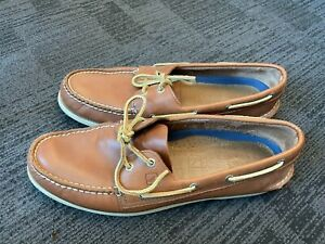Sperry Topsiders Authentic Classic Brown Leather Size 13