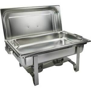 Get-A-Grip Chafer with Food Pan Handles 8Qt Stainless Steel