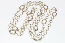CHANEL 1981 Byzantine Style Crystal Infinity Chain Necklace